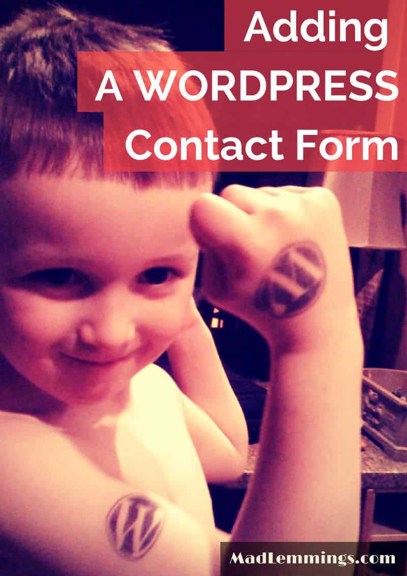 add wordpress contact form