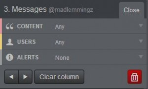 tweetdeck edit column