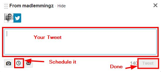 TweetDeck schedule tweet