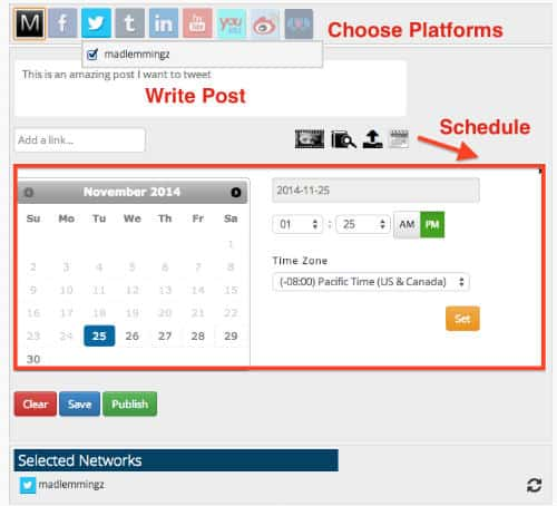 MavSocial Social Media Scheduling
