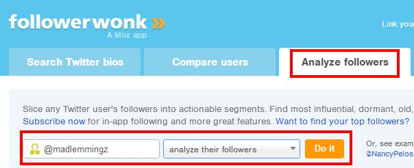 Followerwonk analyse followers