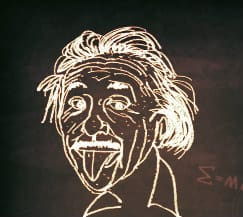 einstein blackboard drawing