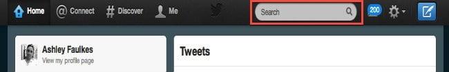 Twitter search bar