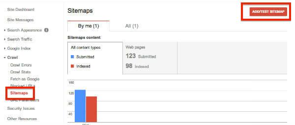 google add a sitemap