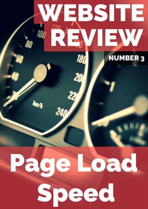 website review page load speed