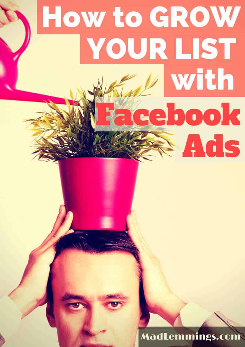 Grow your email list facebook ads