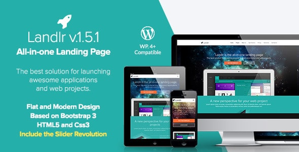 Landlr WordPress Landing Page Theme