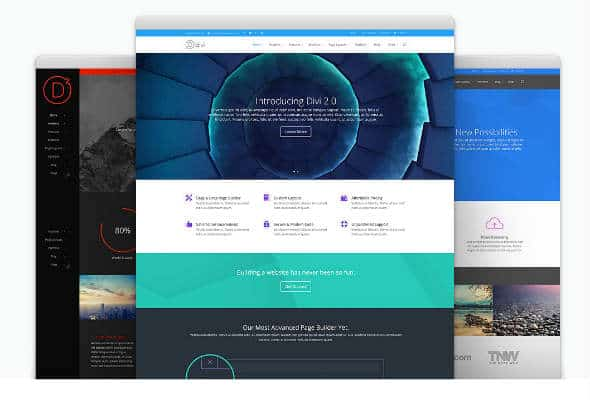 Divi Theme WordPress Landing Page