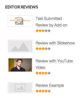 WP Reviews Plugin Widget with Summary