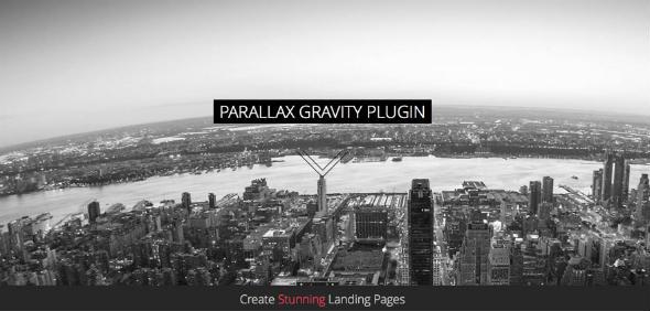 Parallax Gravity Landing Page Plugin