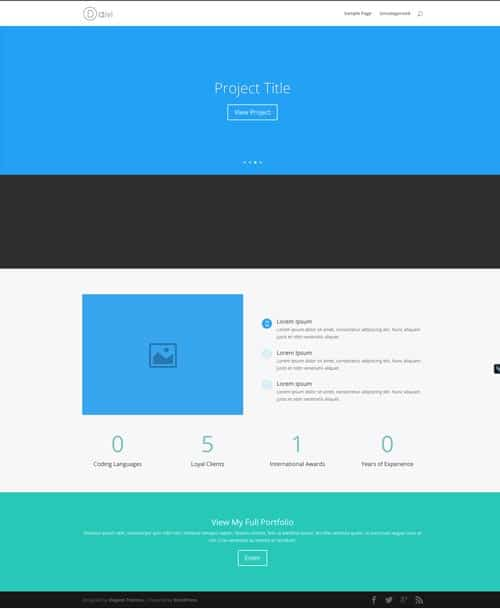 Divi Layout Homepage Portfolio
