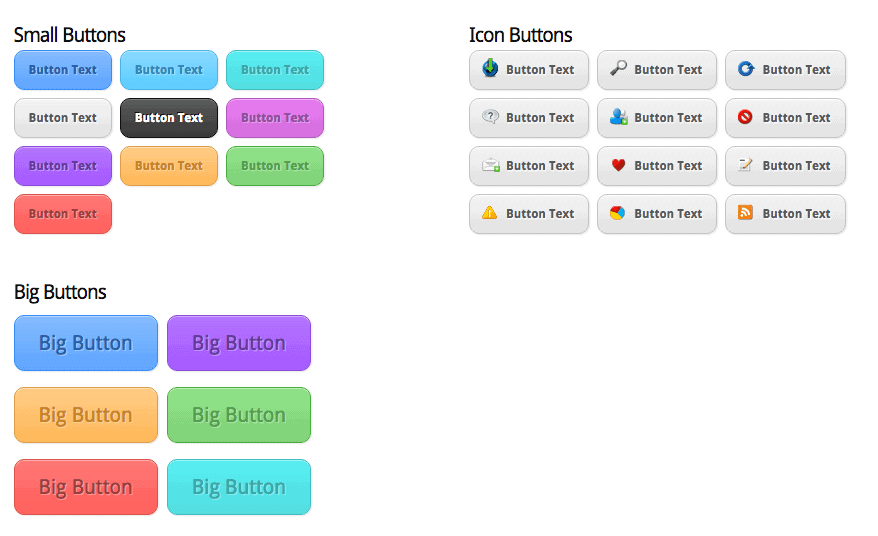 Elegant Themes Buttons Shortcodes