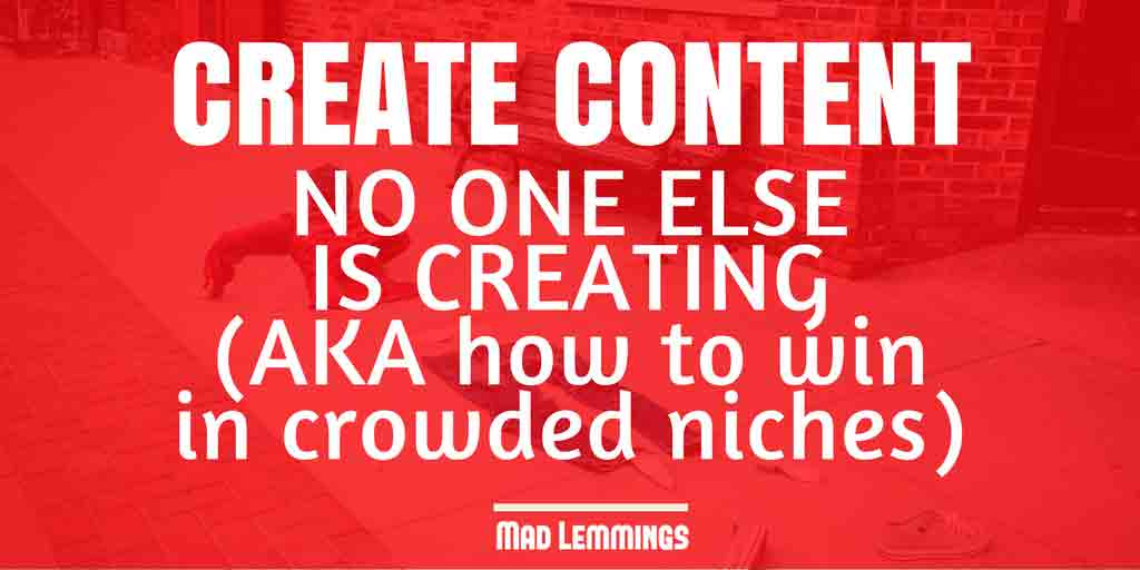 Create Unique Content - Shoulder Niches