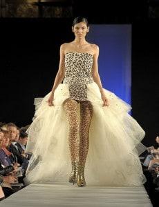 model on a catwalk