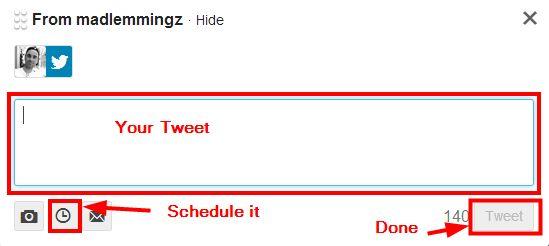 TweetDeck schedule tweet