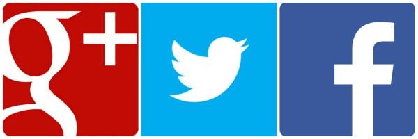 social media Twitter Googleplus Facebook
