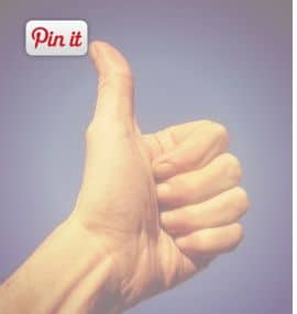 pin it button on image