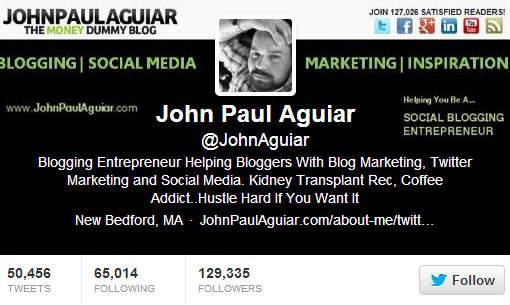 John Paul Aguiar Twitter Bio