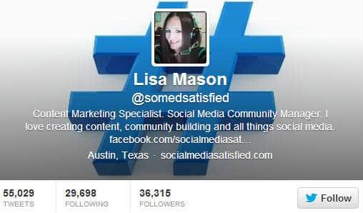 Lisa Mason Twitter Bio