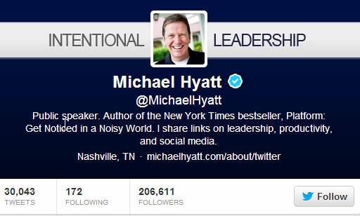 Michael Hyatt Twitter Bio