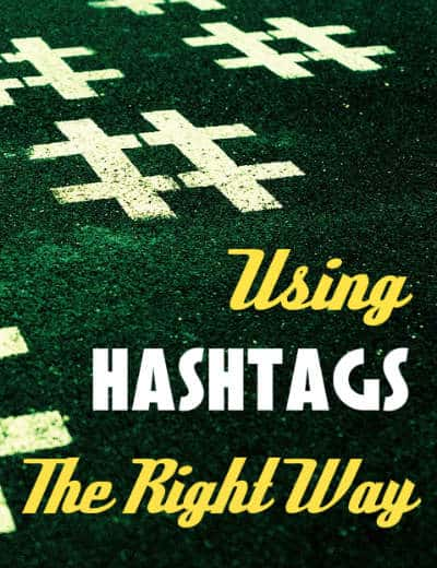 using hashtags twitter