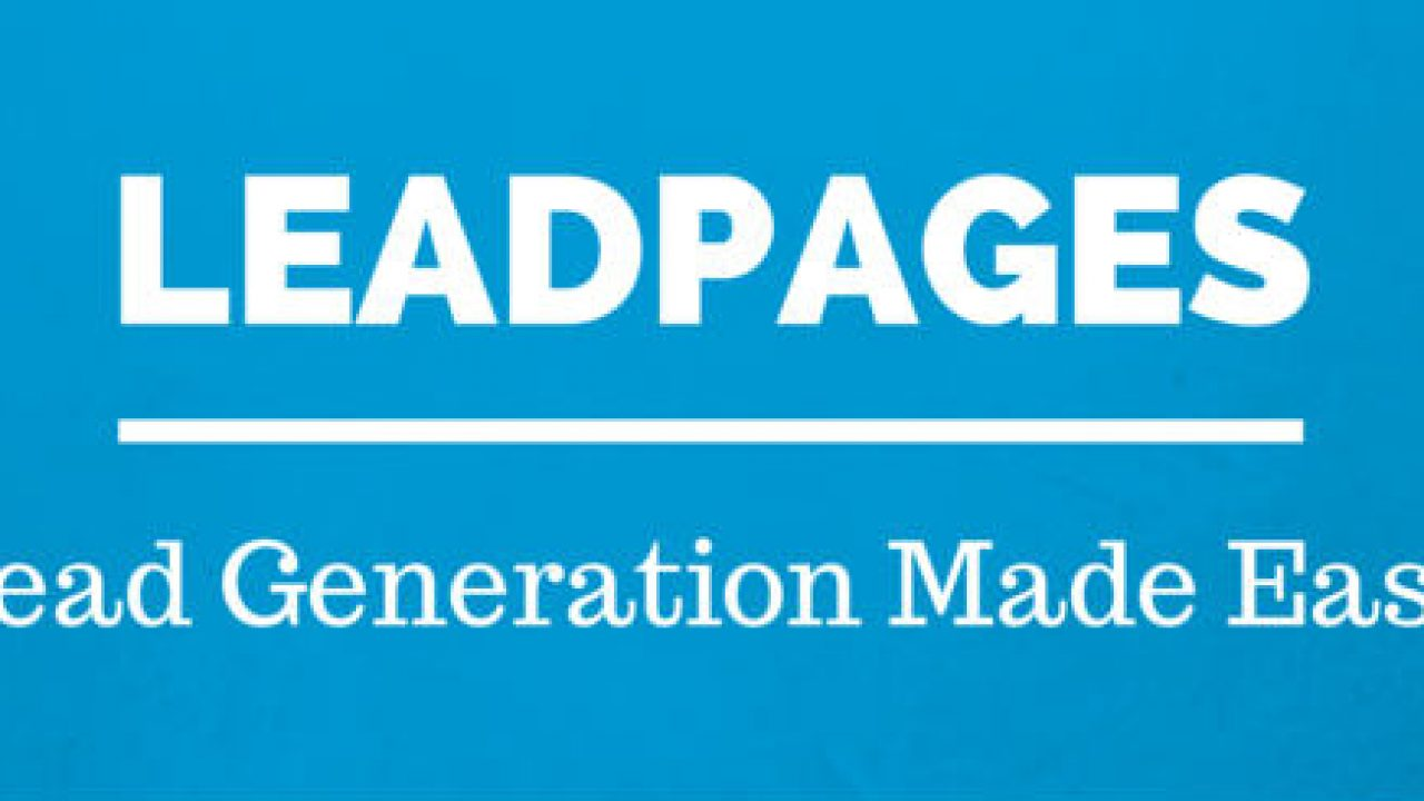 Buy Leadpages Verified Online Coupon Code June 2020