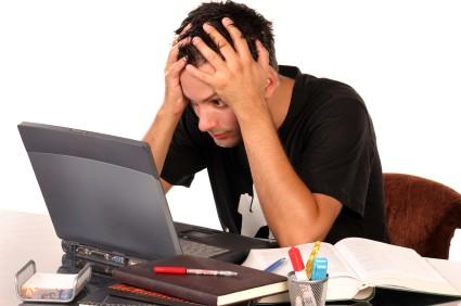 stressed blogging