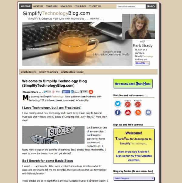 simplify technology blog homepage