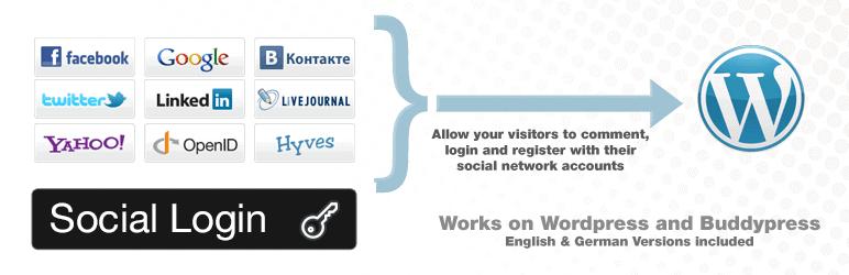 Wordpress & BuddyPress Social Login Plugin