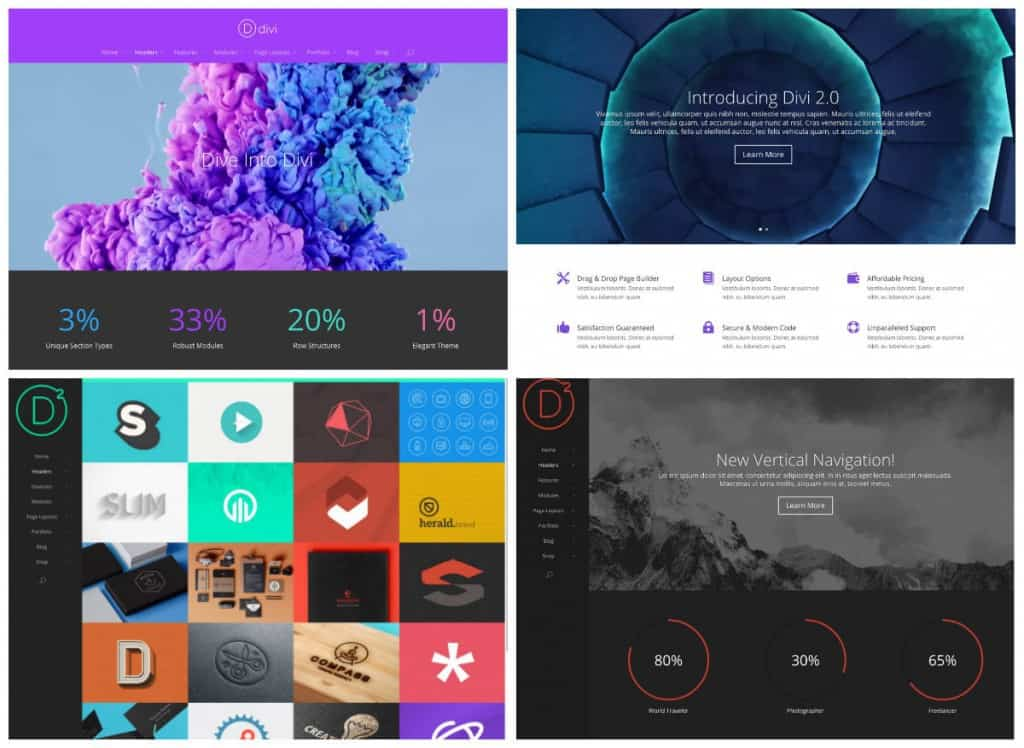 Divi Various Layouts
