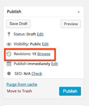 Browse WordPress Revisions