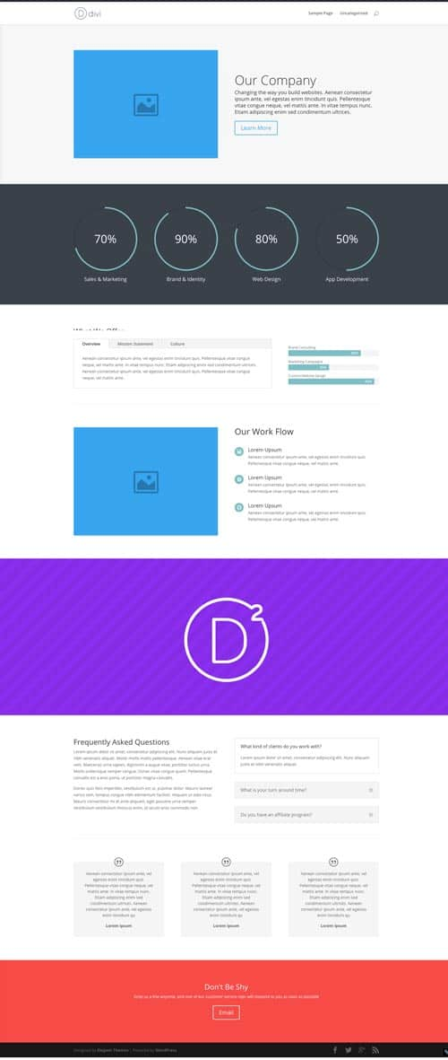 Divi Premade Layout Home Corporate Demo