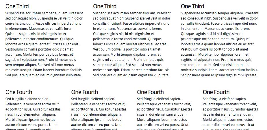 Elegant Themes shortcode Columns