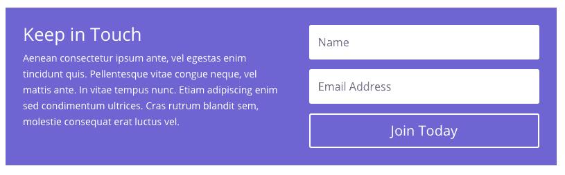 Divi Module - Email Signup