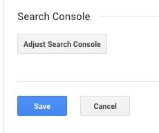Connect Google Analytics with Search Console