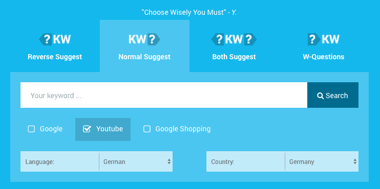 Hypersuggest keyword research Youtube