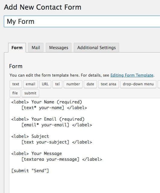 contact form 7 default form